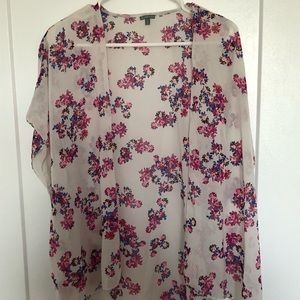 Flower printed coverup
